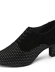 Non Customizable Women's Dance Shoes Velvet Velvet Latin Heels Chunky Heel Indoor More Colors