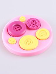 moldes de silicone bolo de chocolate fondant botão, ferramentas de decoração bakeware