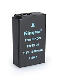 Kingma ан-EL20 bmpcc цифровая камера аккумулятор для Nikon COOLPIX À j1 j2 j3 S1 AW1 MH-27