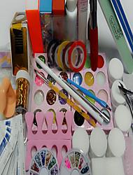 63pcs manicure værktøjer jakkesæt begyndere artiklen 5ml gel opi negle kasse 100pcs negle
