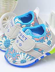 Girl's Baby Sneakers Spring Fall First Walkers Fabric Outdoor Flat Heel Flower Blue Red Others