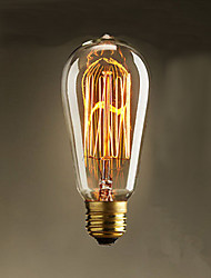 40W  ST58 Edison Incandescent Light Bulbs 19 E27 Silk Vertical Wire Retro Decorative Light Bulbs