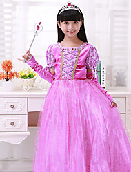 Cosplay Costumes Princess Festival/Holiday Halloween Costumes Light Purple Patchwork Dress / More Accessories Christmas Female / Kid