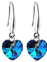 Women's Drop Earrings Hoop Earrings Crystal Love Crystal Heart Jewelry For Wedding Party Halloween