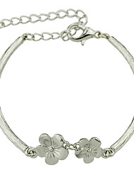 New Cheap Gold Silver Plated Flower Chain Link Bracelet for Ladies