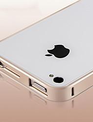 nueva de aluminio dura de parachoques del marco del metal caja de lujo delgadas para el iphone 4 / 4s (colores surtidos)