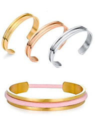 Fashion Rose Gold Titanium Steel Hair Tie Bracelet Cuff Bangles for Women Jewelry Hair Tie Holder Stainless Steel Open Bangles Fashion Party Gifts