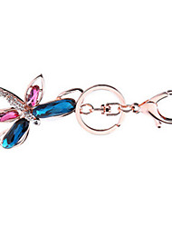 Key Chain Bird Key Chain Blue / Pink Metal