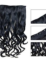 5 Clips wellig Jet Black (# 1) Kunsthaar Clip in Haarverlängerungen für Damen mehr Farben zur Verfügung