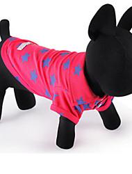 Hunde T-shirt Rose Hundekleidung Sommer / Frühling/Herbst Sterne Lässig/Alltäglich