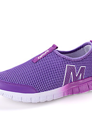 Women's Loafers & Slip-Ons Spring / Summer / Fall / Winter Comfort Tulle Casual Slip-on Blue / Purple / Red / Gray Water Shoes