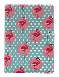 For Card Holder / with Stand / Flip Case Full Body Case Flamingo Hard PU Leather for Apple iPad Air 2 / iPad Air