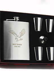 Personalized Stainless Steel Flasks 8-oz Flask The Eagle