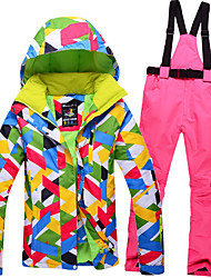 Ski Wear Ski/Snowboard Jackets / Clothing Sets/Suits Women's Winter Wear Polyester Winter ClothingWaterproof / Thermal / Warm / Windproof