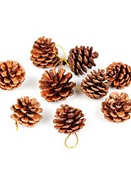 Christmas Decorations / Christmas Party Supplies / Christmas Tree Ornaments Holiday Supplies / Wood Coffee /5Packs
