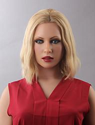 Femme Perruque Naturelles Dentelle Cheveux humains Lace Front Densité Ondulation Naturelle Perruque Auburn Blond Fraise / Medium Auburn