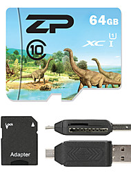 ZP 64GB Micro SD card Class 10 80 OtherMultiple in one card reader Micro sd card reader SD card reader CF card reader Memory stick reader