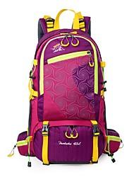 45 L Backpack Hiking & Backpacking Pack Camping & Hiking Fishing Cycling/Bike Outdoor Rain-Proof Yellow Nylon
