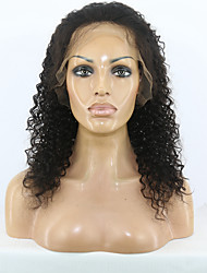 7A Glueless Front Lace Human Hair Wigs Brazilian Kinky Curly Lace Front Wigs Afro Kinky Human Hair Small Curl Wigs For Black Women