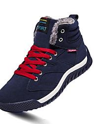 Men's Boots Winter Comfort PU Casual Flat Heel Lace-up Black Green Dark Green Walking