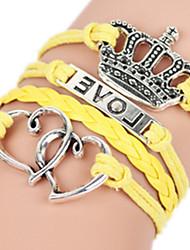 Femme Bracelets Rigides Alliage Hip-Hop Pierre Mode Forme de Coeur Forme de Couronne Bijoux Bijoux 1pc