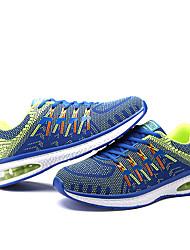 Masculino-Tênis-Conforto-Rasteiro-Preto / Azul Real / Laranja-Couro Ecológico-Ar-Livre