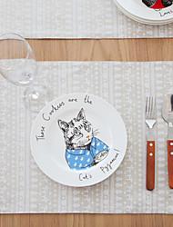 Carré Impression / Avec motifs / Animal Sets de table , Coton mélangé Matériel Tableau Dceoration / Hôtel Dining Table