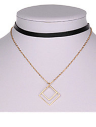 Necklace Pendant Necklaces Jewelry Wedding / Party Geometric Basic Design Alloy Women 1pc Gift Gold