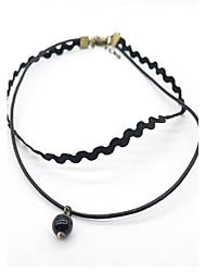 Necklace Choker Necklaces Jewelry Daily Single Strand Basic Design Alloy Women 1pc Gift As Per Picture