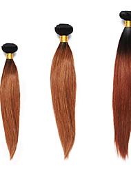 Омбре Индийские волосы Яки 12 месяцев 3 предмета волосы ткет