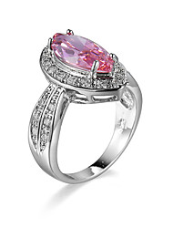 Ring AAA Cubic Zirconia Gemstone Zircon Cubic Zirconia Alloy Fashion Blue Pink Jewelry Wedding Casual 1pc