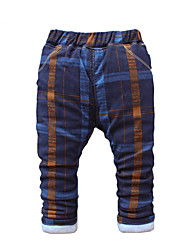 Boy's Cotton Fashion Plaid Cartoon Print Spring/Fall/Winter Going out/Casual/Daily Warm Children Heavy Padded Pants