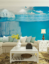 JAMMORY 3D Wallpaper For Home Contemporary Wall Covering Canvas Material Water IcebergXL XXL XXXL