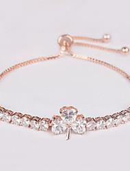 Femme Chaînes & Bracelets Cristal Mode Zircon Forme de Feuille Bijoux Pour Quotidien
