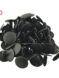 50 Pcs Auto Car 25mm Head Dia Push in Plastic Rivets Car Door Panel Retainer Fastener