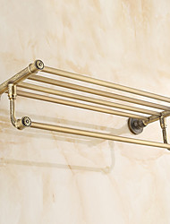 Antique Brass-Plated finishing Brass Material Bathroom Shelf