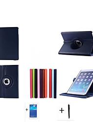 2015 neuf de haute qualité étui en cuir stand de série tournant pour Apple iPad 6 ipad air2 cas + protecteur d'écran + stylet