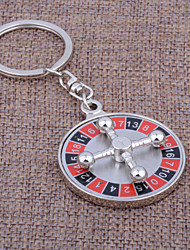 Stainless Steel Keychain Favors-1 Piece/Set Keychains Vegas Theme Personalized Silver
