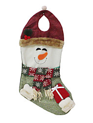 Christmas Toys / Gift Bags Holiday Supplies Santa Suits / Snowman Textile Dark Red / Green All