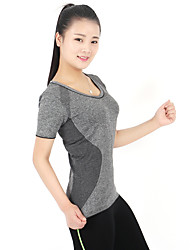 Laufen T-shirt Damen Kurze Ärmel Atmungsaktiv / Schweißableitend / Komfortabel Elastan / LYCRA®Yoga / Camping & Wandern / Übung & Fitness