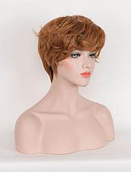 Fashion Brown Color Synthetic Daily Wigs Short Curly Wigs