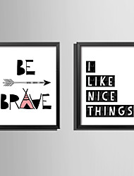 E-HOME® Framed Canvas Art Abstract Letter Theme Series Framed Canvas Print One Pcs