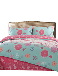 Mingjie 100% Cotton Blue and Pink Bedding Sets 4PCS for Twin Full QueenSize from China Contian 1 Duvet Cover 1 Flatsheet 2 Pillowcases