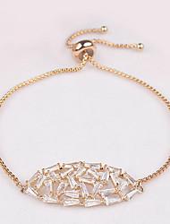 Bracelet Chain Bracelet Zircon Leaf Fashion Daily Jewelry Gift Gold Silver Rose Gold,1pc