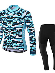 WOLFKEI Spring/Summer/Autumn Long Sleeve Cycling JerseyLong Tights Ropa Ciclismo Cycling Clothing Suits #WK78