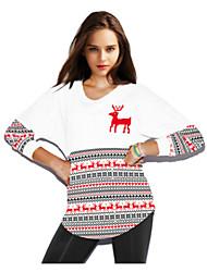 Sweatshirt Femme Décontracté / Quotidien simple Imprimé Col Arrondi Micro-élastique Polyester Spandex Manches Longues Automne Hiver