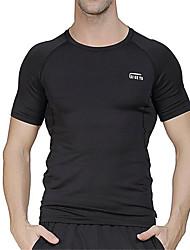 Running Tops Men's Short Sleeve Breathable / Quick Dry LYCRA® Exercise & Fitness / Racing / Basketball / Football/Soccer / Running Sports