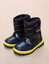 Boy's Boots Winter Comfort Customized Materials Casual Flat Heel Black Blue
