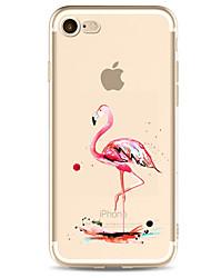 Pro iPhone X iPhone 8 iPhone 7 iPhone 7 Plus iPhone 6 Pouzdra a obaly Ultra tenké Vzor Zadní kryt Carcasă Plameňák Měkké TPU pro Apple