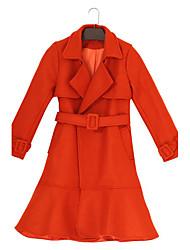 2016 novo inverno de lã grossa pelagem europeu e americano feminino cintura grande lapela e longas seções de lã coat